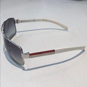 Prada men's aviator sunglasses white SPS541